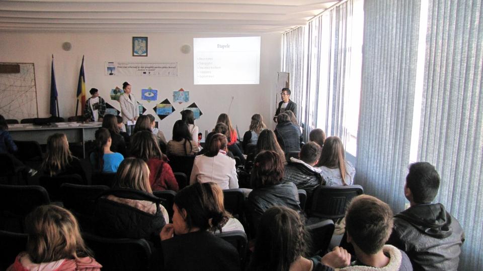 Sesiune de informare - Colegiul Tehnic I.C. Ştefănescu, Iaşi